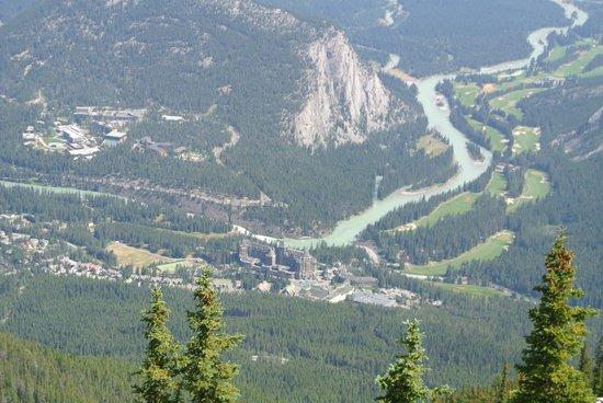Banff Gondola: View towards Bow River