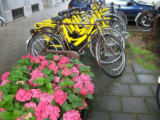 Bilderberg Hotel Jan Luyken: So many bikes .....!