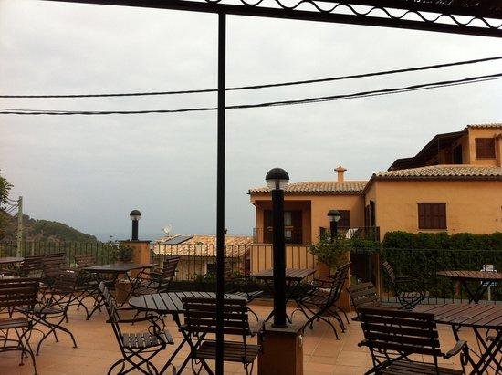 Maristel Hotel: Frühstück und Restaurant Terrasse