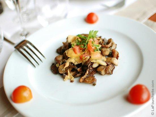 La Chalosse : Poêlée de champignons au foie gras