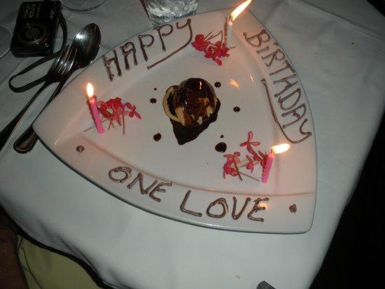 Toscanini Restaurant: Birthday surprise