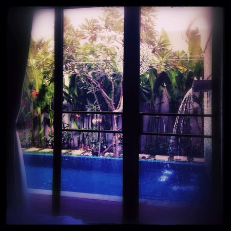 Two Villas Holiday Oriental Style Naiharn Beach : Two Villas Onyx Style - View from the bedroom at C1