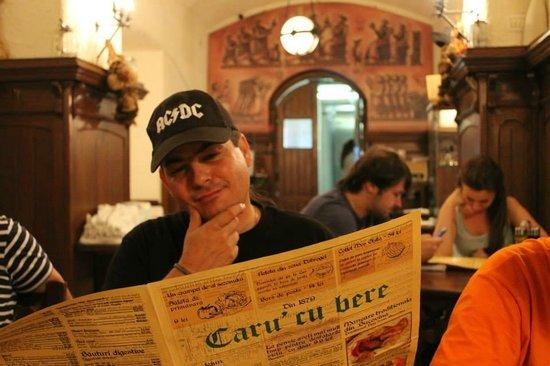 Caru' cu Bere : Ο καταλογος