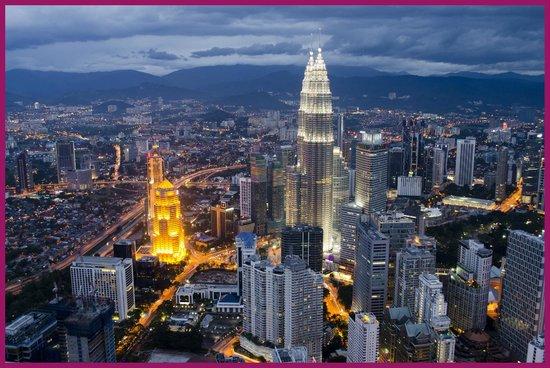 Menara Kuala Lumpur (KL Tower): vista dalla menara tower