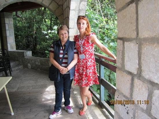 Dubrovnik Shore Tours: Nikolina and I at the water mill restaurant.
