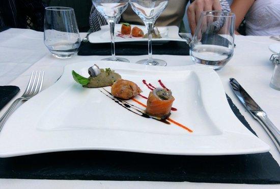Restaurant La Balette: entrée avec anchois de collioure