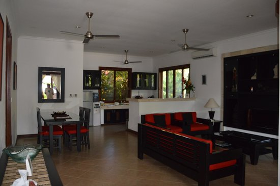 The Zen Villas: Living Room and Kitchen