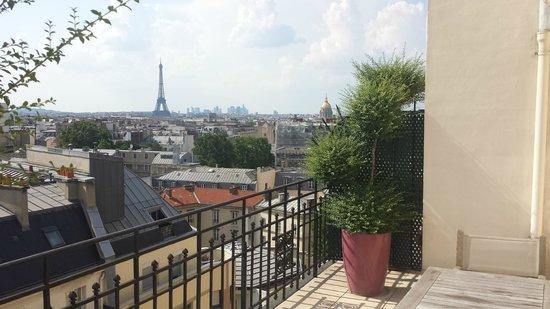 Hôtel Le Littré : View from the terrace