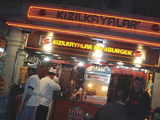 Kizilkayalar: Kizilkalayar burger stand