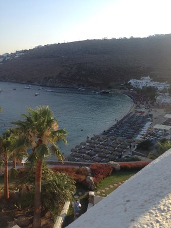 Grecotel Mykonos Blu Hotel: hotel beach and namos beach ,