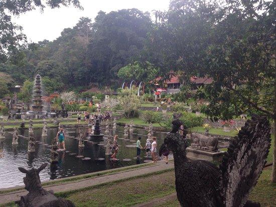 Tirta Ayu Hotel & Restaurant : The beautiful water palace (Tirta Ayu in the background)