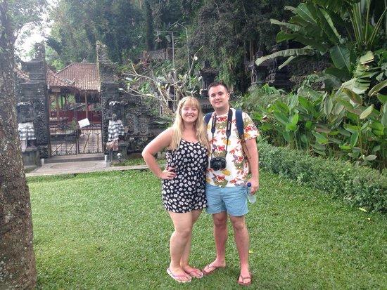 Tirta Ayu Hotel & Restaurant: Us at Tirta Ayu - lovely surroundings