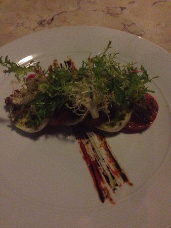 Grand Aston Bali Beach Resort: Giorgios Italian Restaurant at the Grand Aston - worth a visit! (Tricolore Starter)