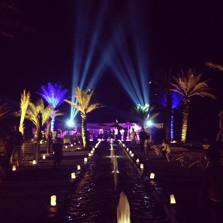 IBEROSTAR Royal El Mansour & Thalasso : Looking towards the beach area on the beach party night