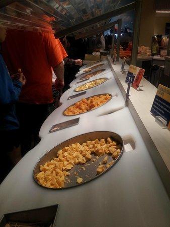 Tillamook Cheese Factory: Degiustación de quesos