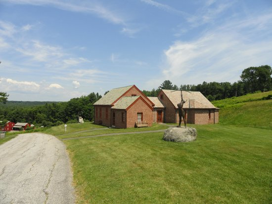 Fruitlands Museum : Valley view and museum buildings