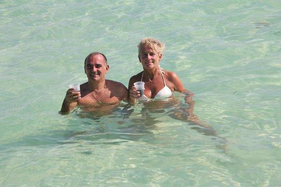 Isla Saona : piscine naturelle a côté de Saona