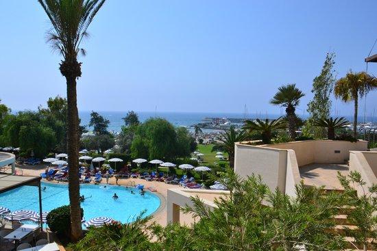 St Raphael Resort: Distant view of St. Raphael's marina