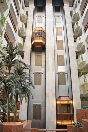 St Raphael Resort: The elevators at St. Raphael's