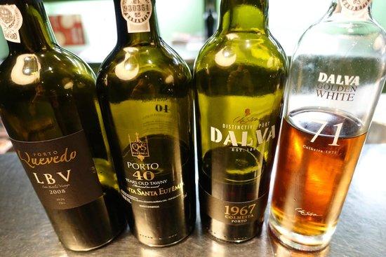 Solar do Vinho do Porto : Les vins dégustés au verre