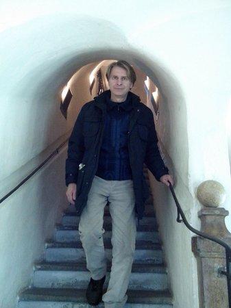 Mozart's Birthplace : Exit from Mozart's House Birthplace (Mozart Gerburtshaus), Salzburg