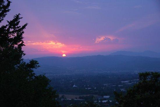 Mountain Lodge: Sonnenuntergang