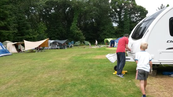 Ruthern Valley Holidays: the camping main field