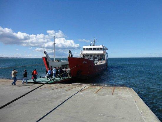 Solo Expediciones: Barco e pier de embarque em Punta Arenas