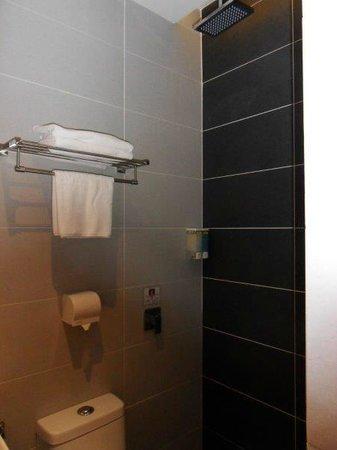 Sri Enstek Hotel : Shower almost over toilet