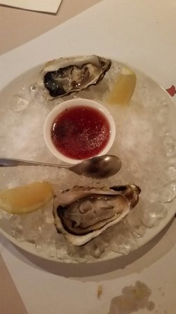 The Steakhouse : The fresh oyster