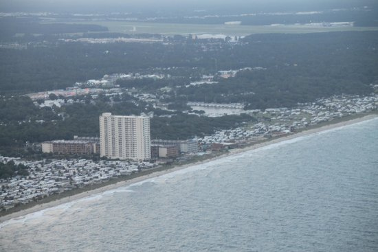 Helicopter Adventures Private Tours: View of north myrtle beach