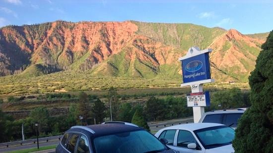 Hanging Lake Inn : The view out your front door is beautiful in the mornings. What a way to start the day!