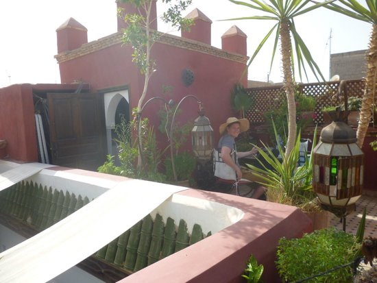 Riad Tamarrakecht : the roof terrace