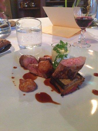 Abbaye de Villeneuve: La viande.