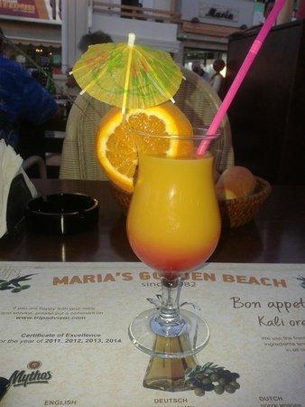 Maria's Golden Beach Tavern Restaurant : Tequila Sunrise