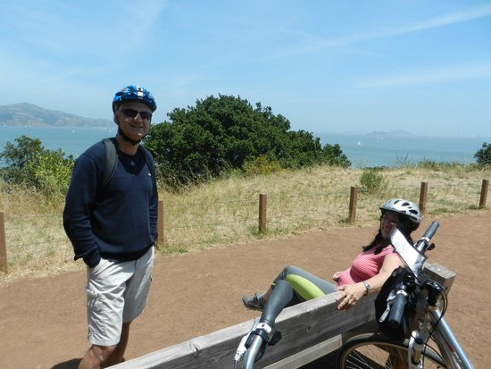 Blazing Saddles Bike Rentals and Tours : Momento de descanso...