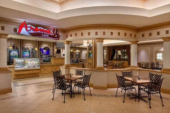 Horseshoe Southern Indiana: Aroma Cafe located in the Hotel Lobby