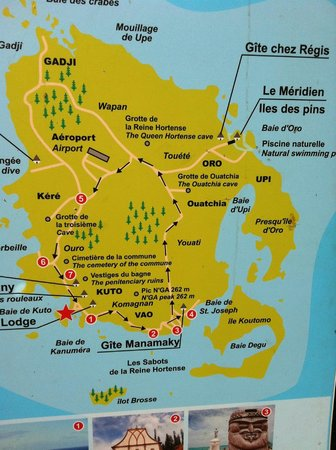 Isle Of Pines Map map is Isle de Pines showing Piscine Naturelle location   Picture  Isle Of Pines Map