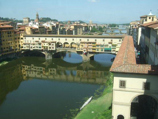 Corte de'Neri: The Ponte Vecchio viewed from thre Uffizi Gallery is at the end of the Via dei Neri
