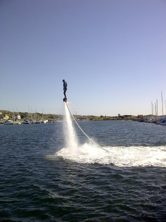 Southern Goteborg Archipelago: Hire out flyboard at Björkö