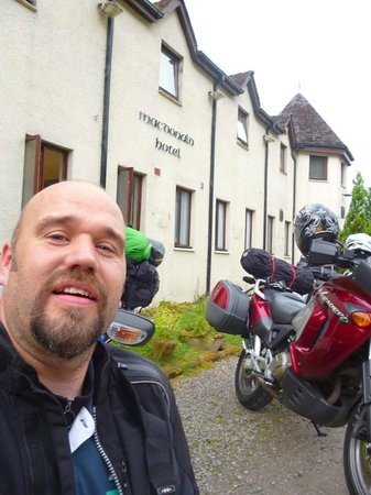The MacDonald Hotel & Cabins: Approving selfie outside the hotel
