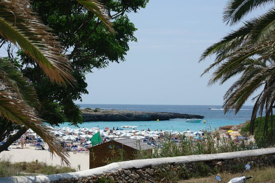 Grupotel Club Menorca: Stranden tæt ved hotellet