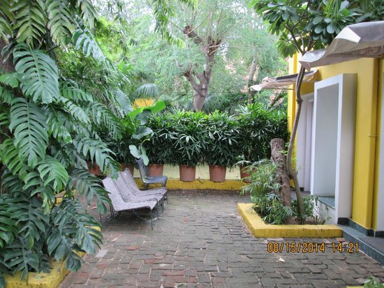 Devraj Niwas (Stay Well Planted): Seating outside room #303-304
