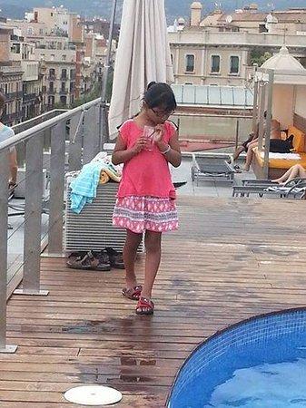 Silken Gran Hotel Havana: Rooftop bar/pool area