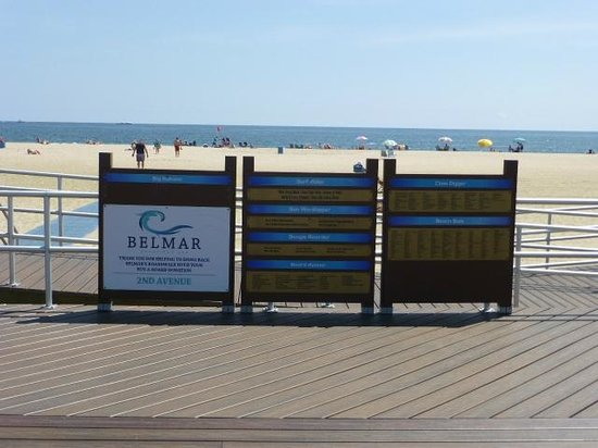 Belmar Beach and Boardwalk: posting of the rules