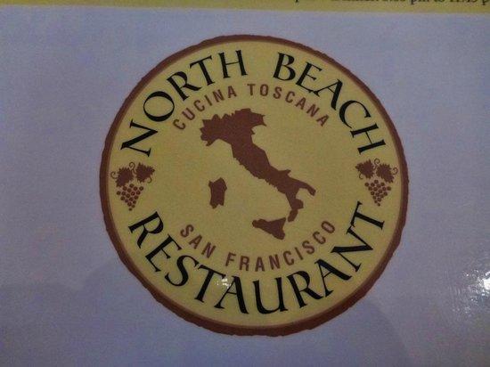 North Beach Restaurant: Logo on the menu