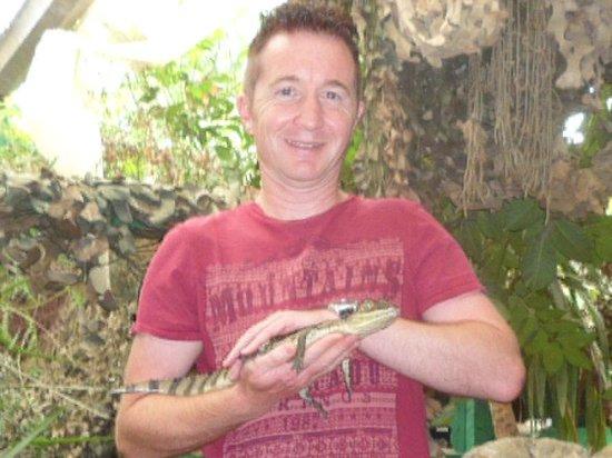 Amazonia - World of Reptiles: Holding a baby crocodile!