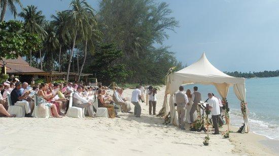 The Lipa Lovely Beach Resort: wedding next door