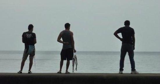 El Malecon : pescadores de tarde