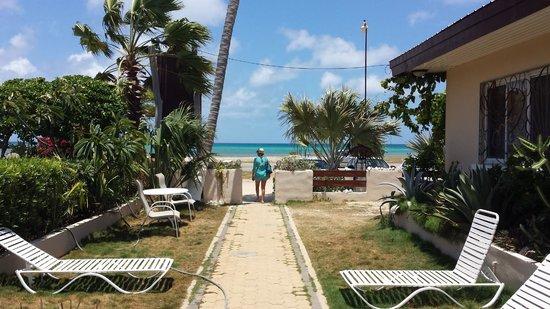 Aruba Sunset Beach Studios: Exit/Entrance right on the road/beach